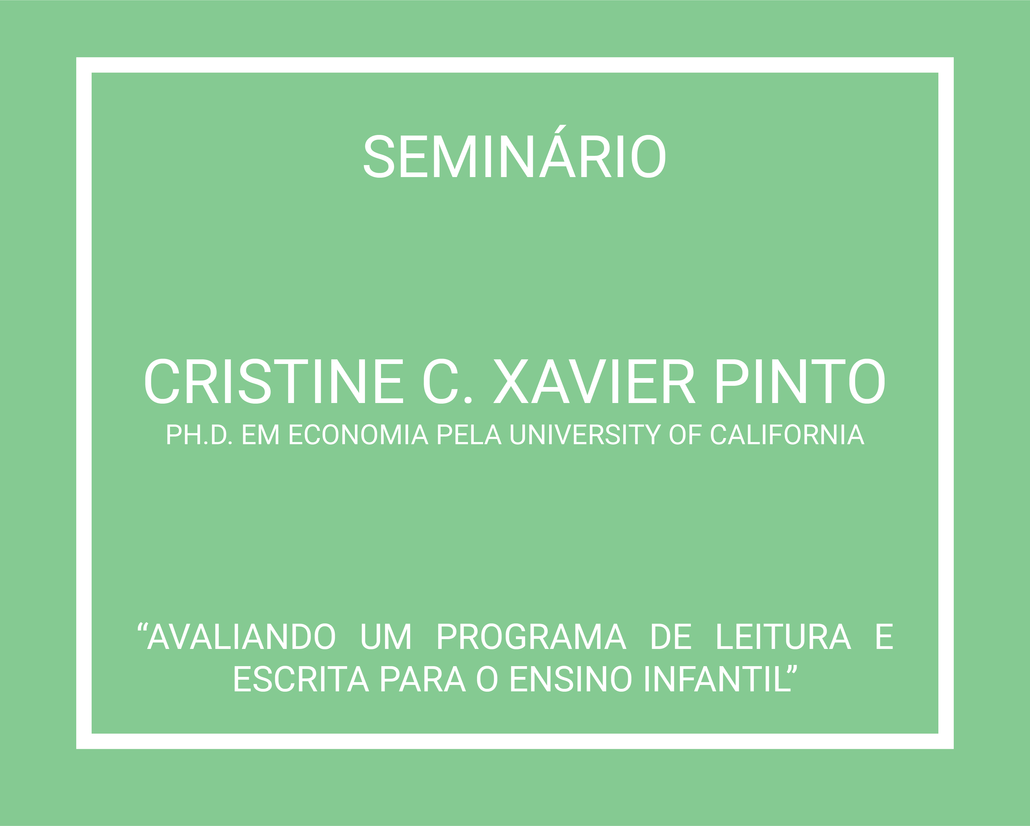 Cristine C Xavier Pinto